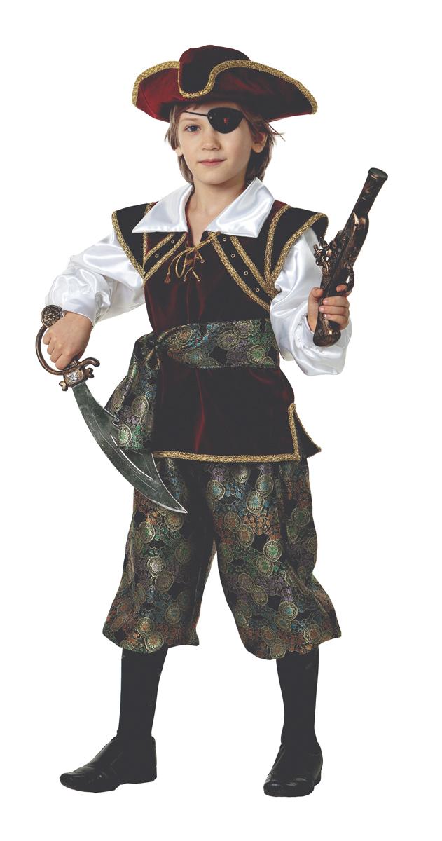 Батик Костюм карнавальный для мальчика Корсар размер 38 костюм зловещего шута детский 38 40