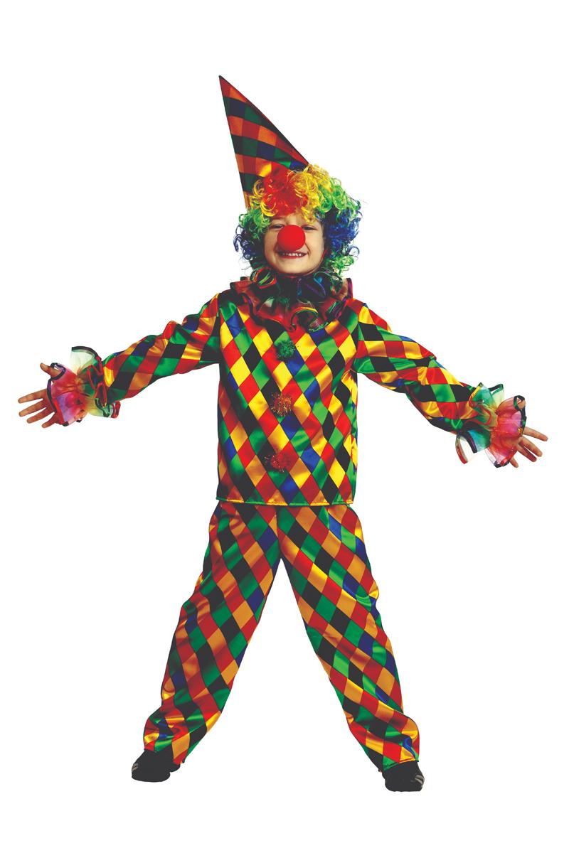 Батик Костюм карнавальный для мальчика Арлекино размер 40 костюм зловещего шута детский 38 40