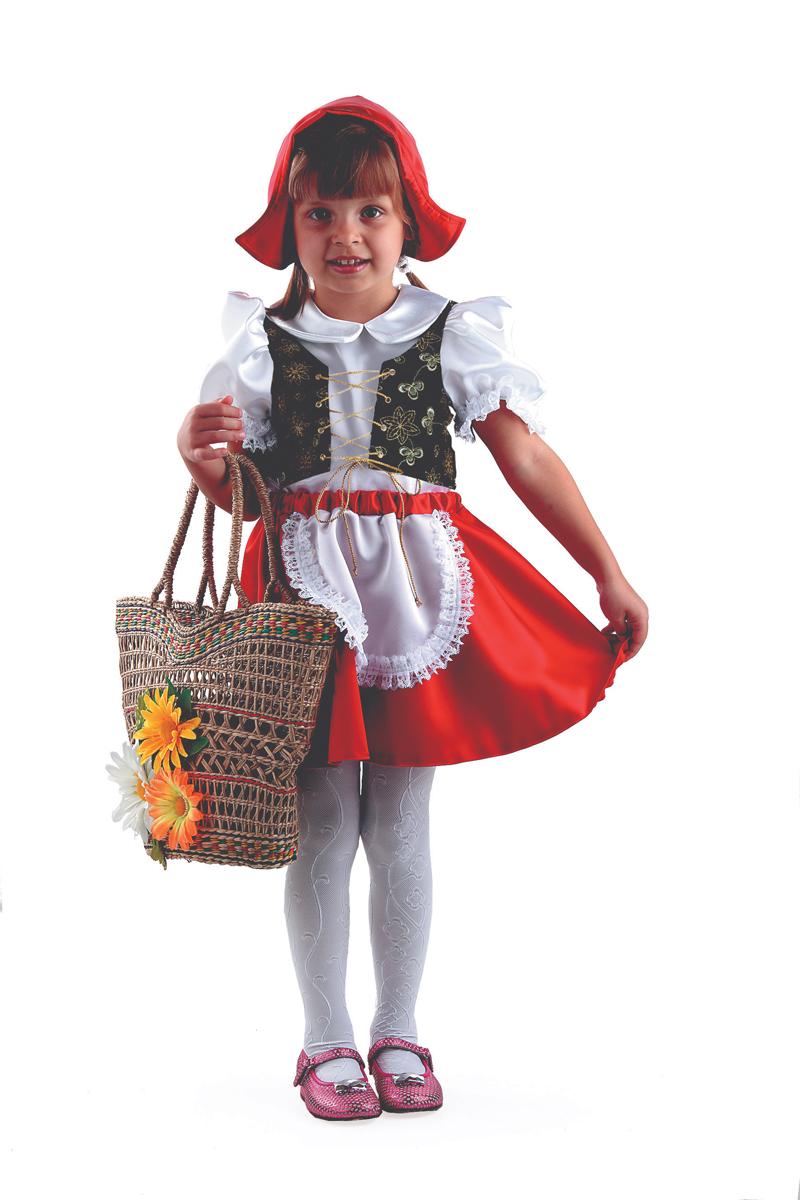 Батик Костюм карнавальный для девочки Красная Шапочка цвет красный белый размер 40