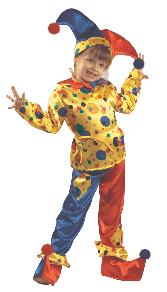 Батик Костюм карнавальный для мальчика Петрушка размер 36