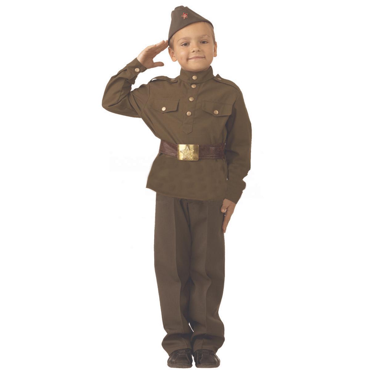 Батик Костюм карнавальный для мальчика Солдат размер 34 пилотка страна карнавалия солдат размер 56 58 см
