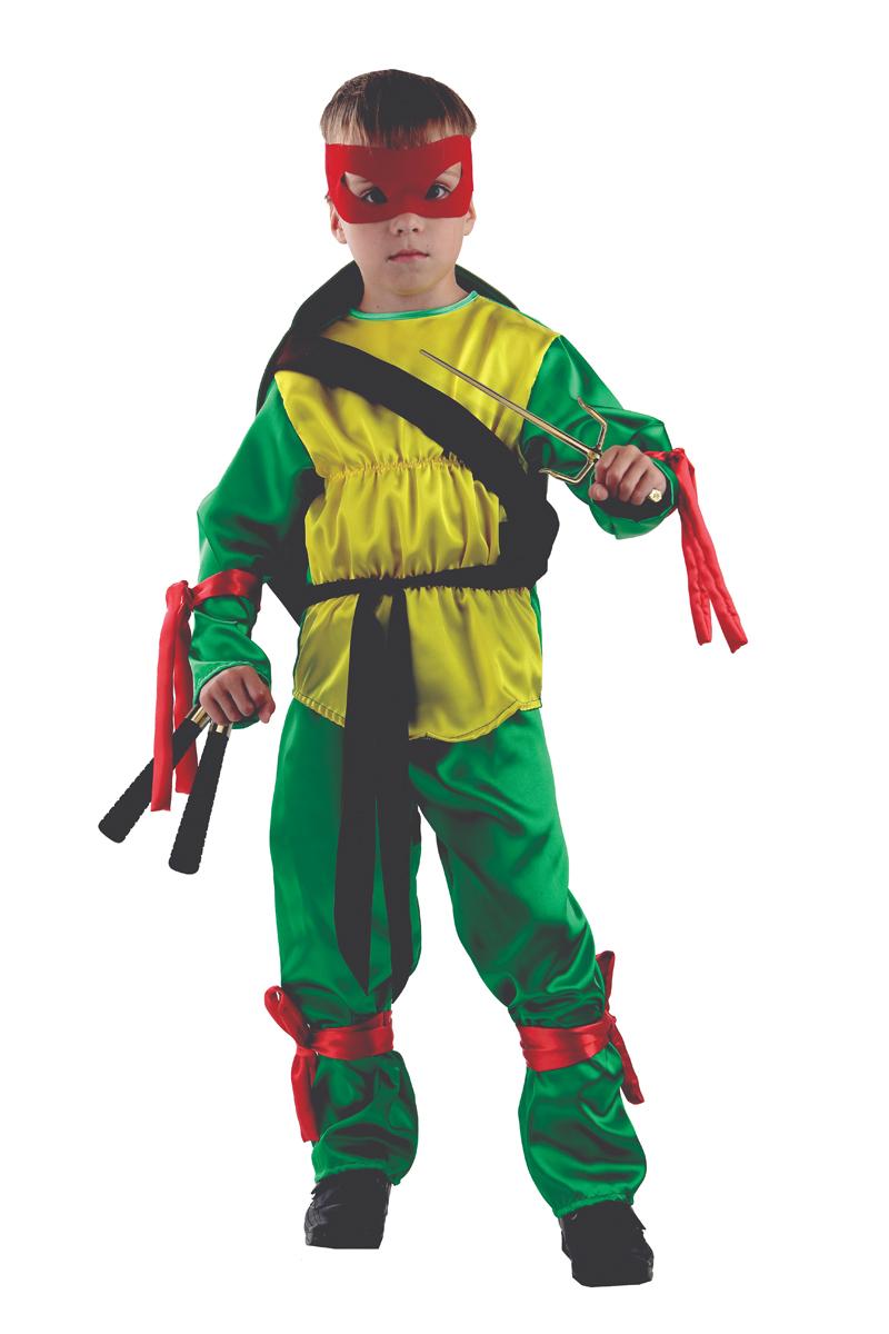 Батик Костюм карнавальный для мальчика Черепашка Ниндзя размер 36 детский костюм шута 36