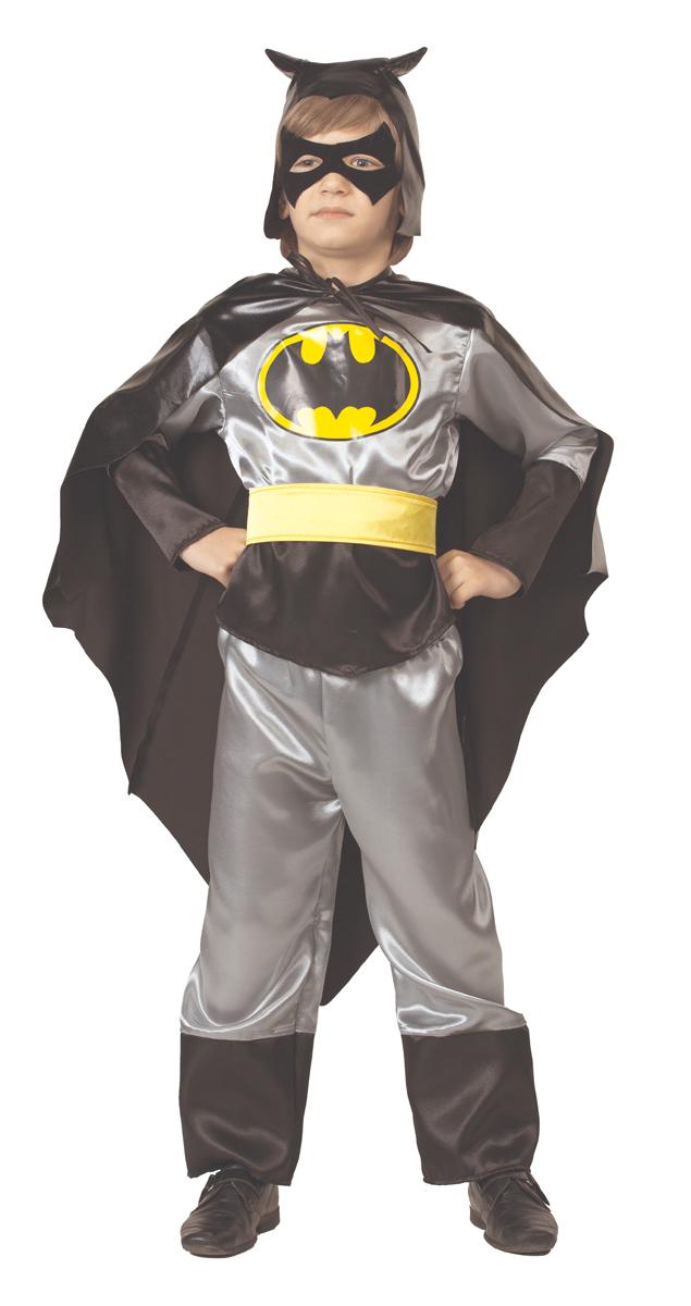 Батик Костюм карнавальный для мальчика Черный Плащ цвет черный серый желтый размер 40 batik batik плащ дуся бирюзовый