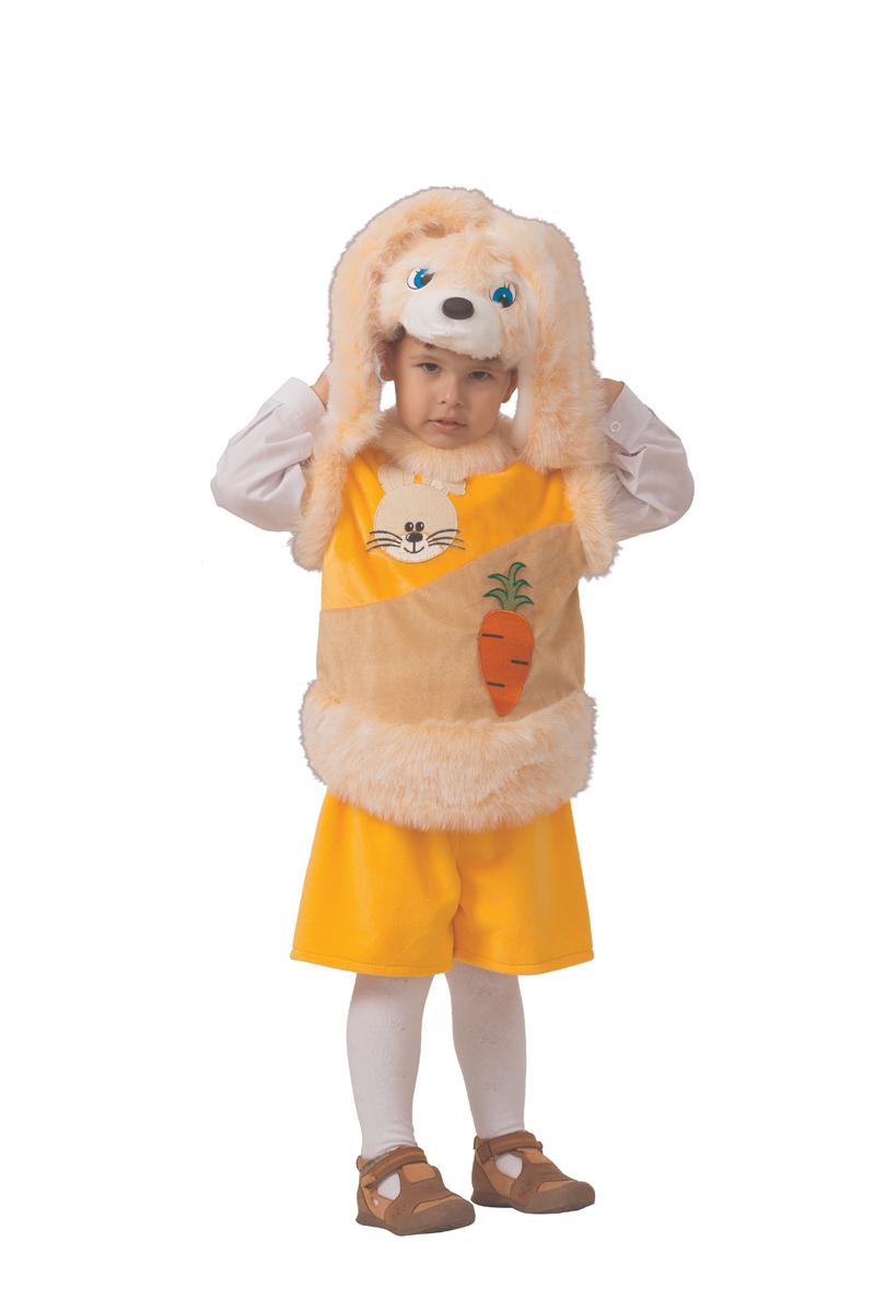 Батик Костюм карнавальный для мальчика Кролик Лучик размер 28 детский костюм дарт мола 28 30
