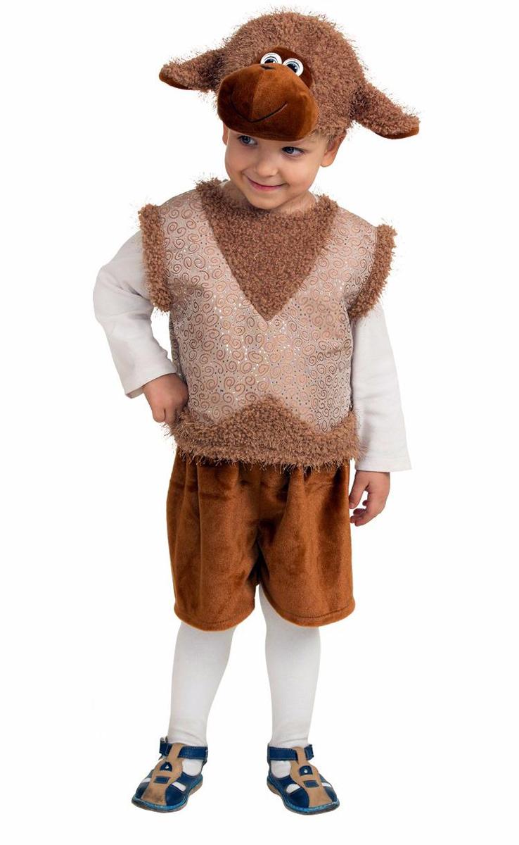 Батик Костюм карнавальный для мальчика Овенчик Бяшка размер 26-28 детский костюм дарт мола 28 30