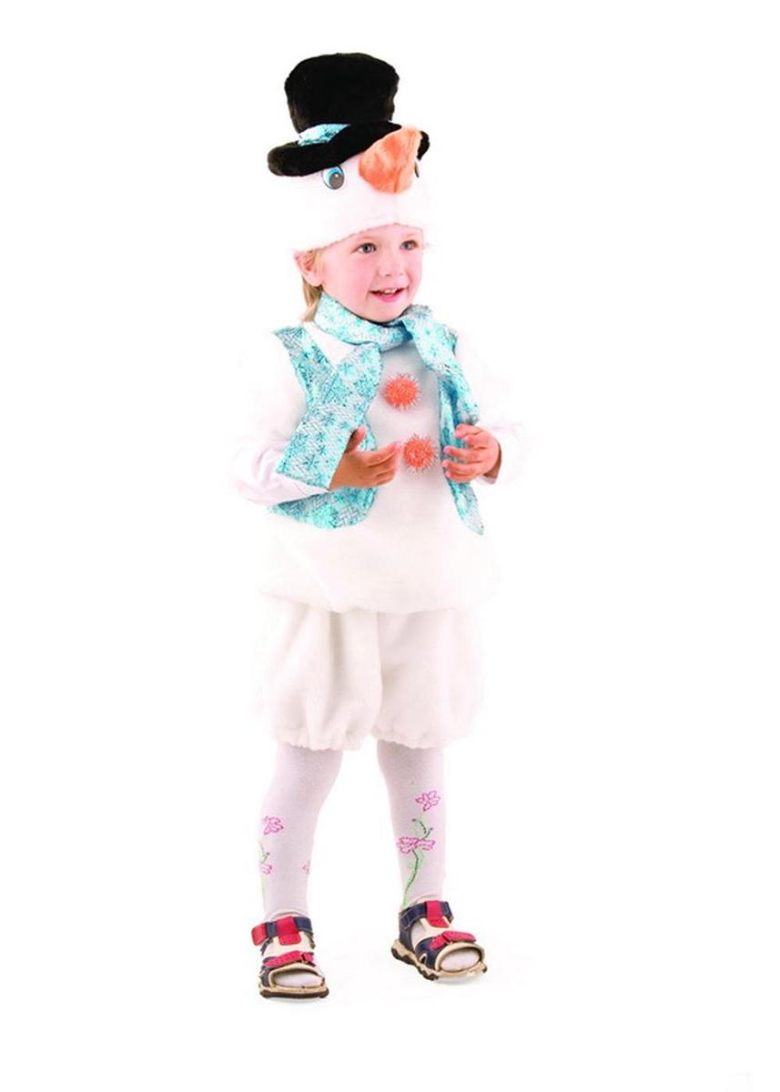 Батик Костюм карнавальный для мальчика Снеговичок размер 26-28 костюма снеговика для мальчика на авито