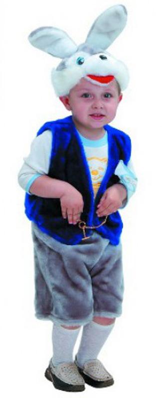 Батик Костюм карнавальный для мальчика Зайчик Федор размер 28