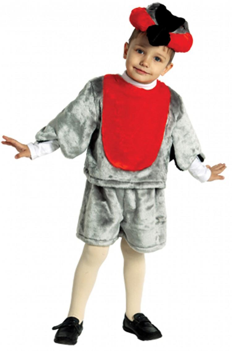 Батик Костюм карнавальный для мальчика Снегирь размер 28 батик костюм карнавальный ежик размер 28