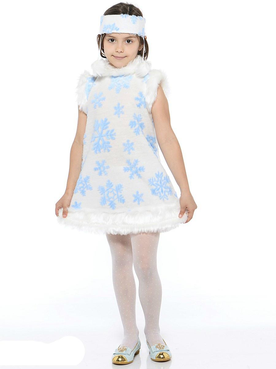 Батик Костюм карнавальный для девочки Снежинка размер 30-32 костюм маленькой снежинки 32