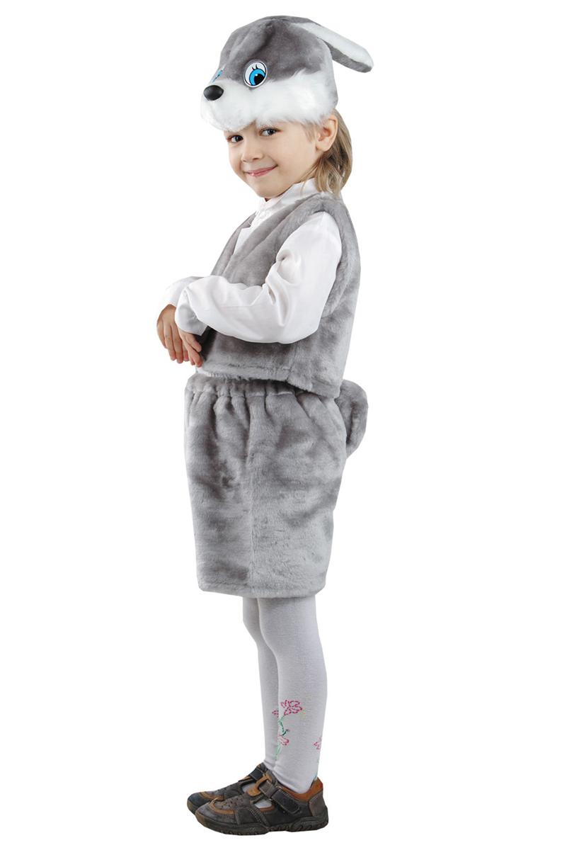 Батик Костюм карнавальный для мальчика Заяц цвет серый размер 28