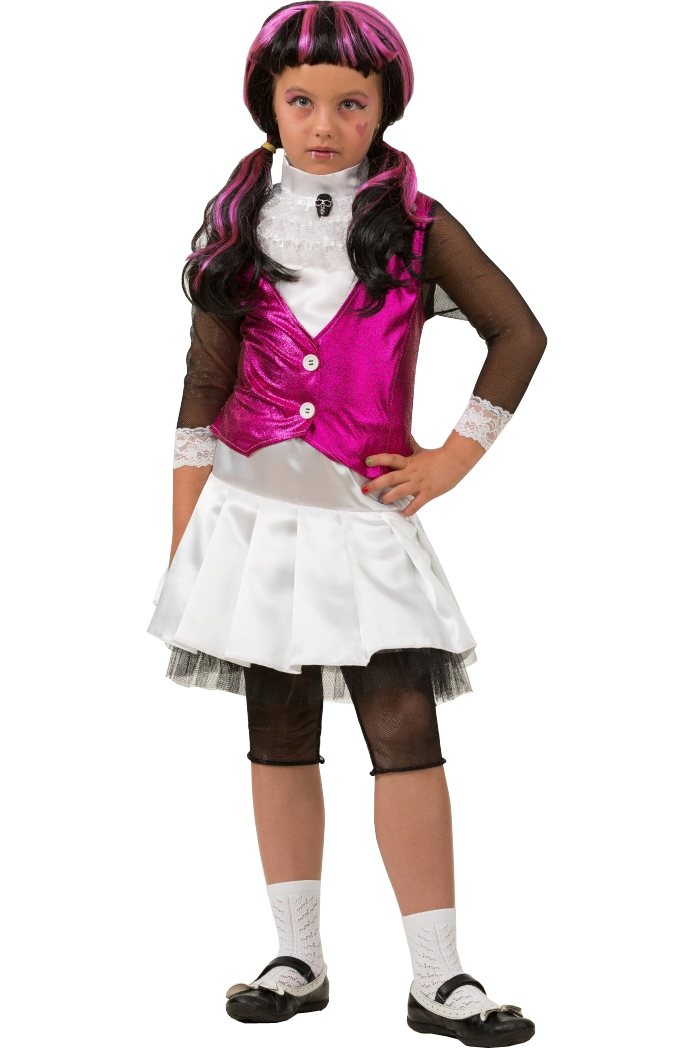 Батик Костюм карнавальный для девочки Дракулаура размер 38 куклы монстер хай дракулаура базовая