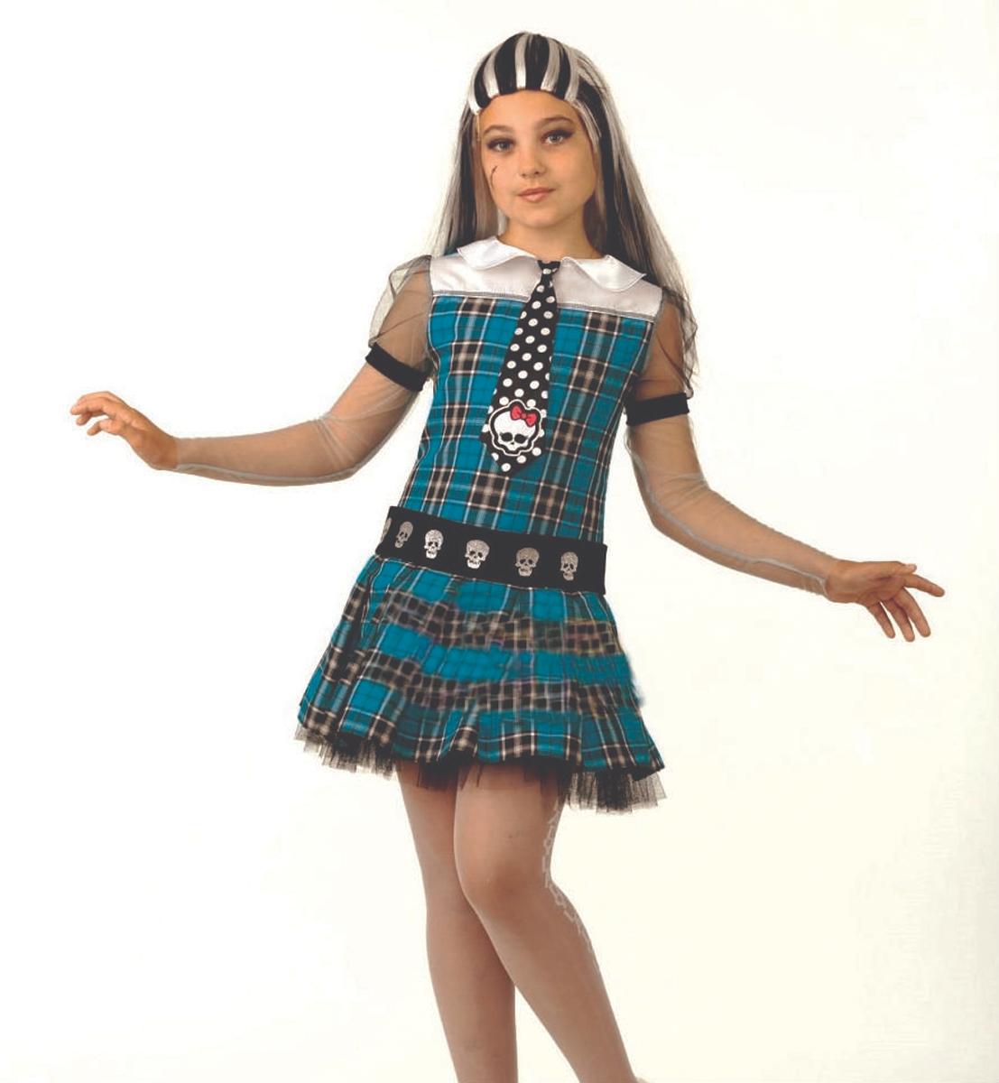 Батик Костюм карнавальный для девочки Фрэнки Штейн размер 38 monster high кукла френки штейн буникальные танцы