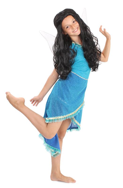 Батик Костюм карнавальный для девочки Фея Серебрянка размер 30 серый парик парик вайс шнее uni