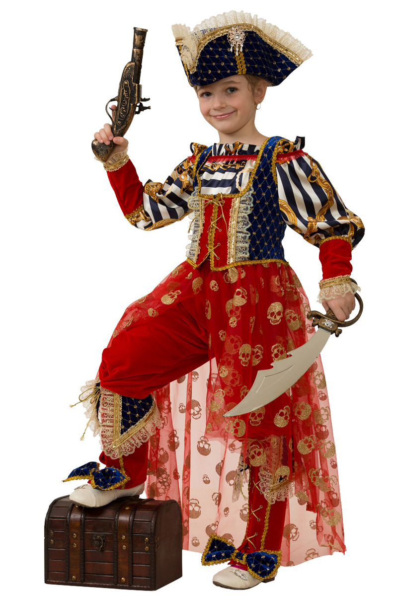 Батик Костюм карнавальный для девочки Пиратка Морская размер 34 - Карнавальные костюмы и аксессуары