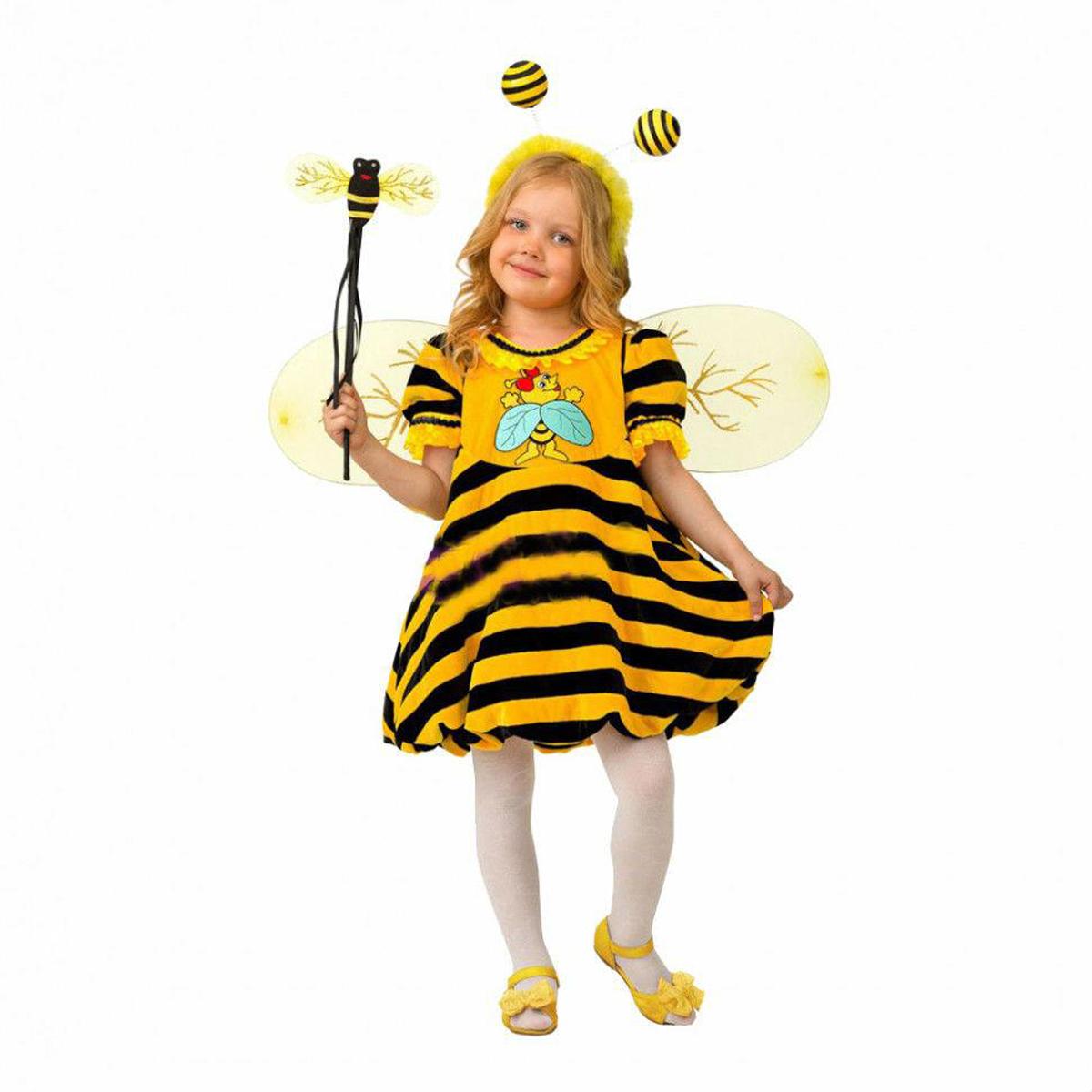 Батик Костюм карнавальный для девочки Пчелка размер 30 батик карнавальный костюм для девочки снежинка размер 30