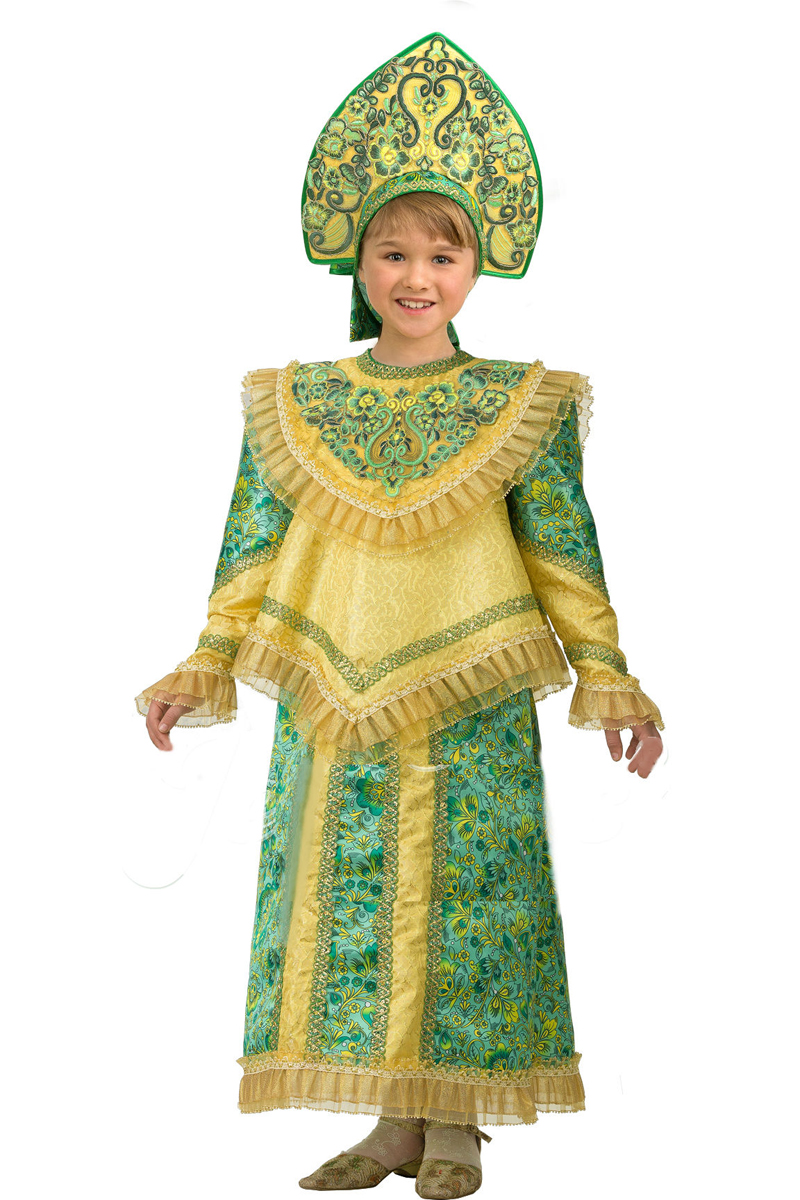 Батик Костюм карнавальный для девочки Царевна размер 28 батик костюм карнавальный ежик размер 28