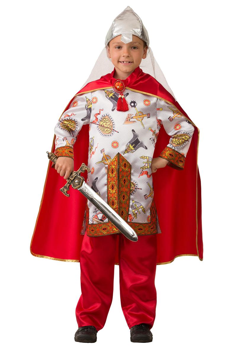 Батик Костюм карнавальный для мальчика Богатырь сказочный размер 36 батик костюм карнавальный для мальчика вельможа цвет бордовый размер 38