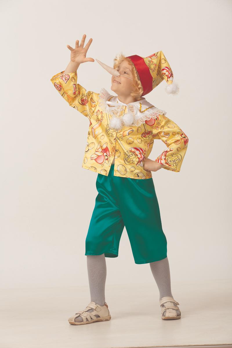 Батик Костюм карнавальный для мальчика Буратино сказочный размер 32