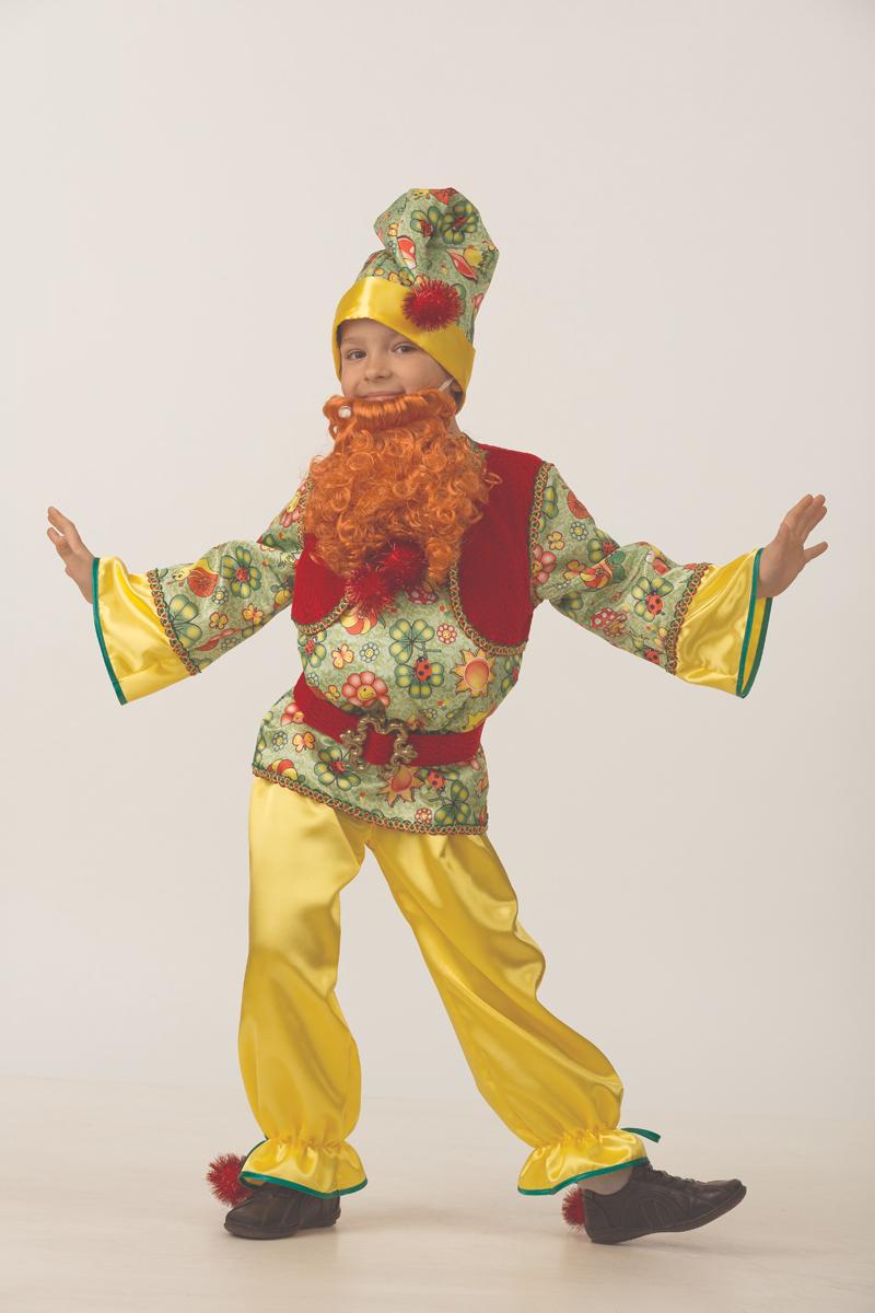 Батик Костюм карнавальный для мальчика Гномик сказочный размер 36 батик костюм карнавальный для мальчика римский воин размер 38