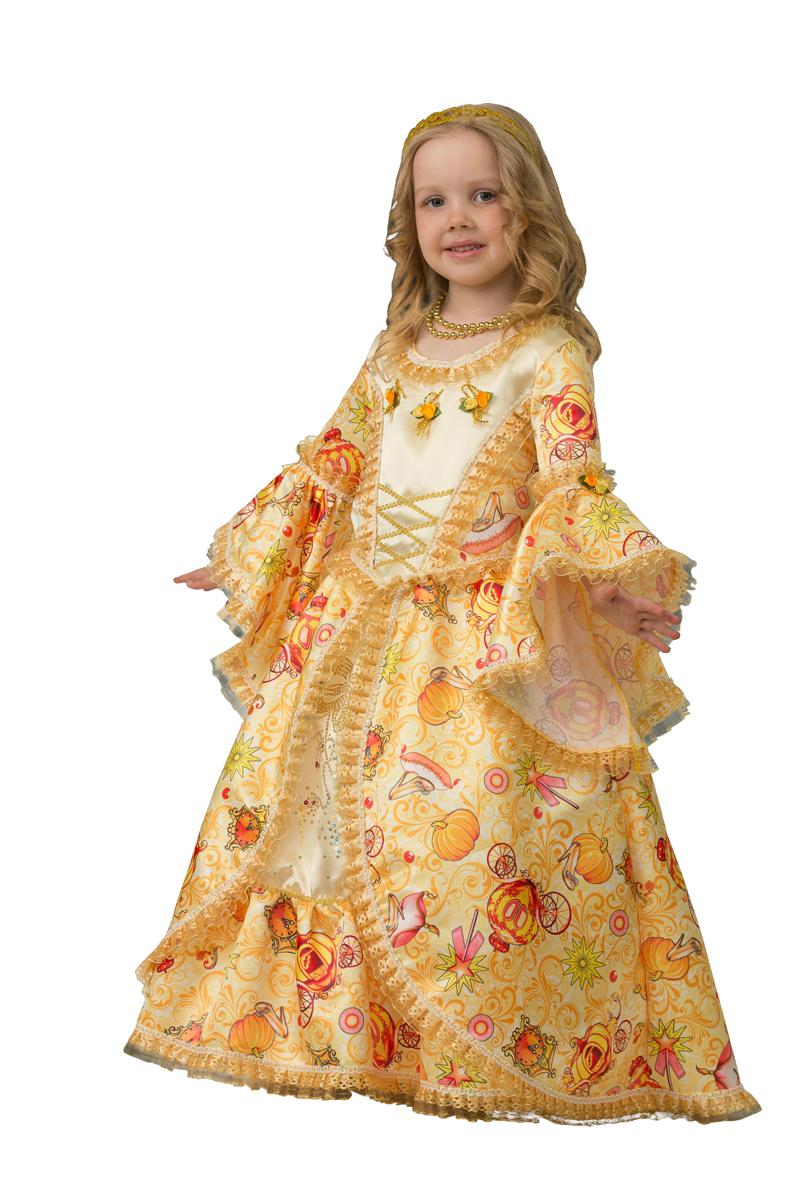 Батик Костюм карнавальный для девочки Золушка сказочная размер 36 батик карнавальный костюм для девочки снежинка размер 30