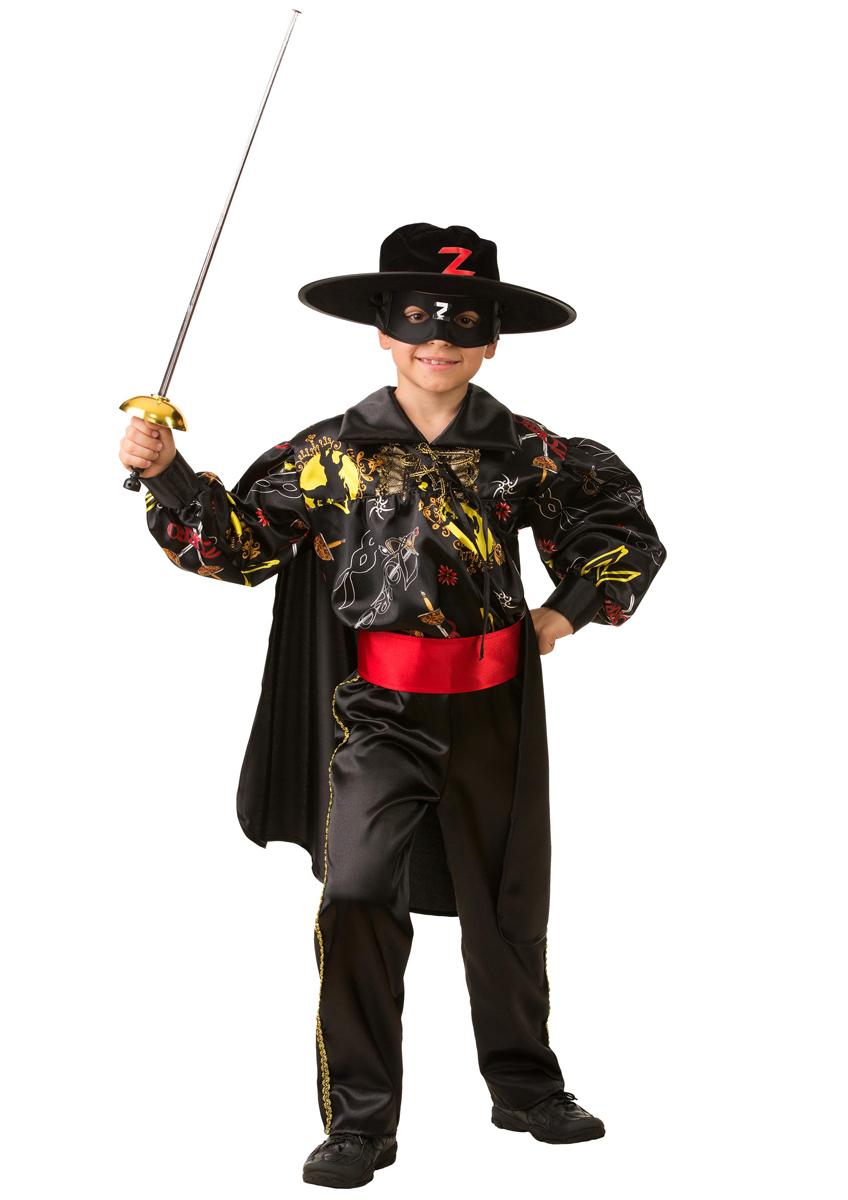 Батик Костюм карнавальный для мальчика Зорро сказочный размер 36 батик костюм карнавальный для мальчика гладиатор размер 30