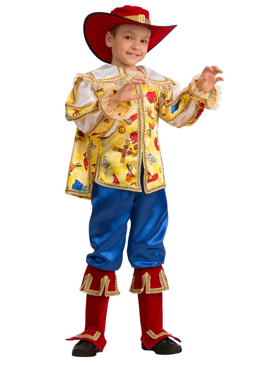 Батик Костюм карнавальный для мальчика Кот в сапогах сказочный размер 30 батик костюм карнавальный для мальчика гладиатор размер 30