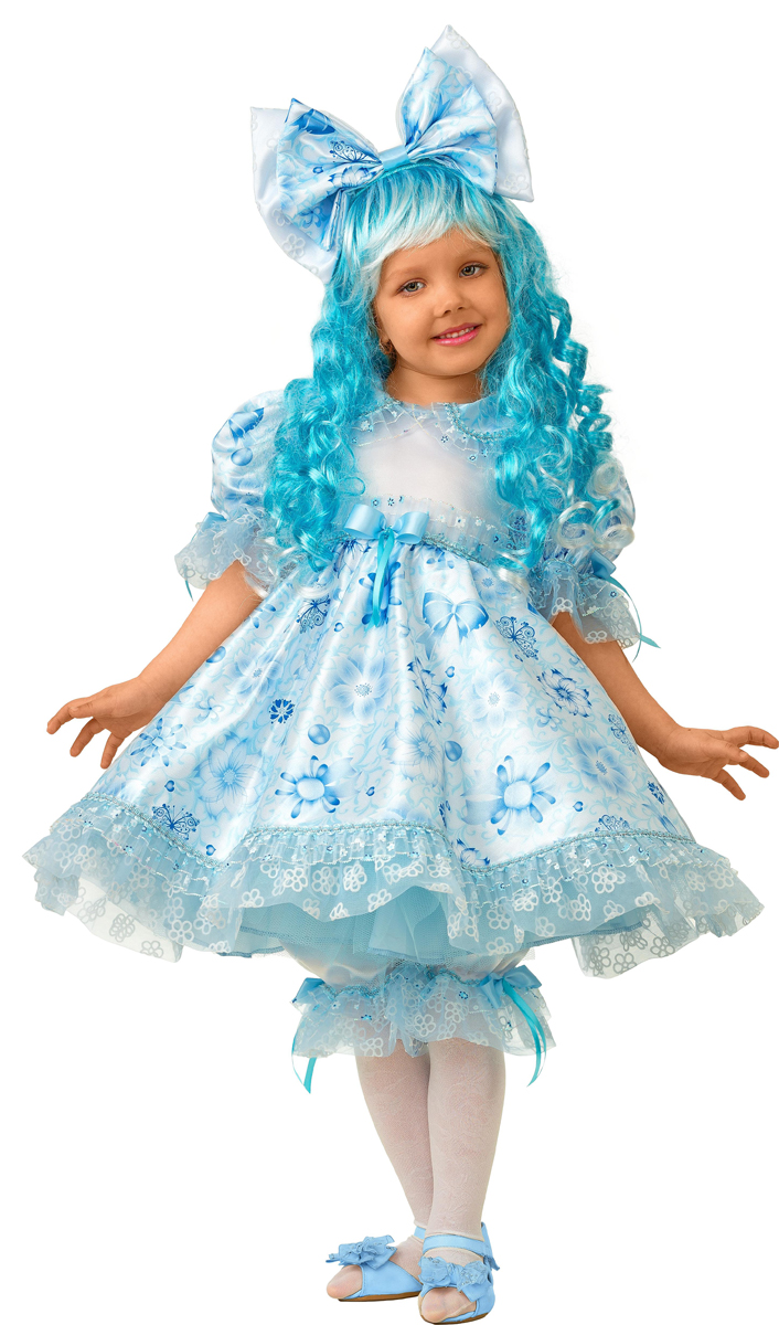 Батик Костюм карнавальный для девочки Мальвина сказочная размер 36 батик костюм карнавальный для девочки козочка цвет белый размер 28