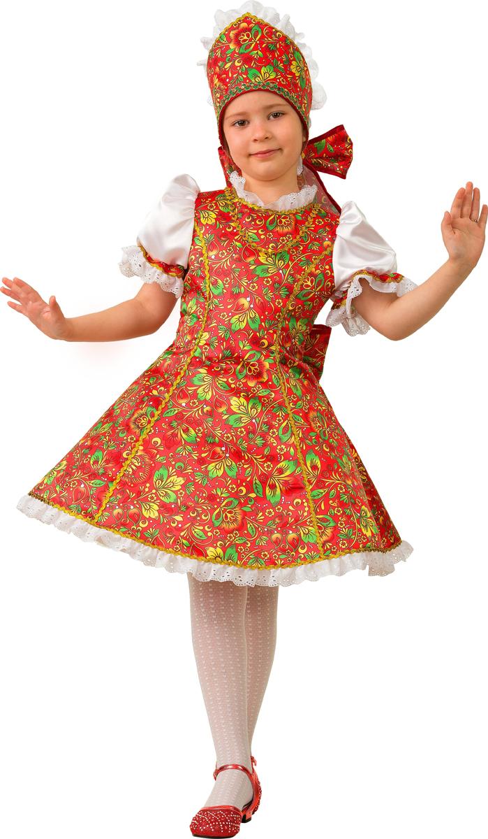 Батик Костюм карнавальный для девочки Марьюшка размер 30 батик костюм карнавальный для девочки тигрица размер 26