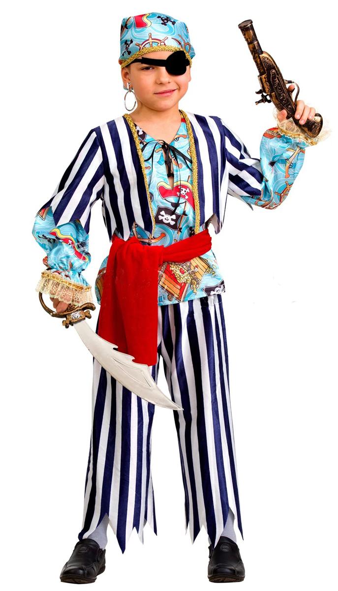 Батик Костюм карнавальный для мальчика Пират сказочный размер 34 батик костюм карнавальный для мальчика витязь размер 34