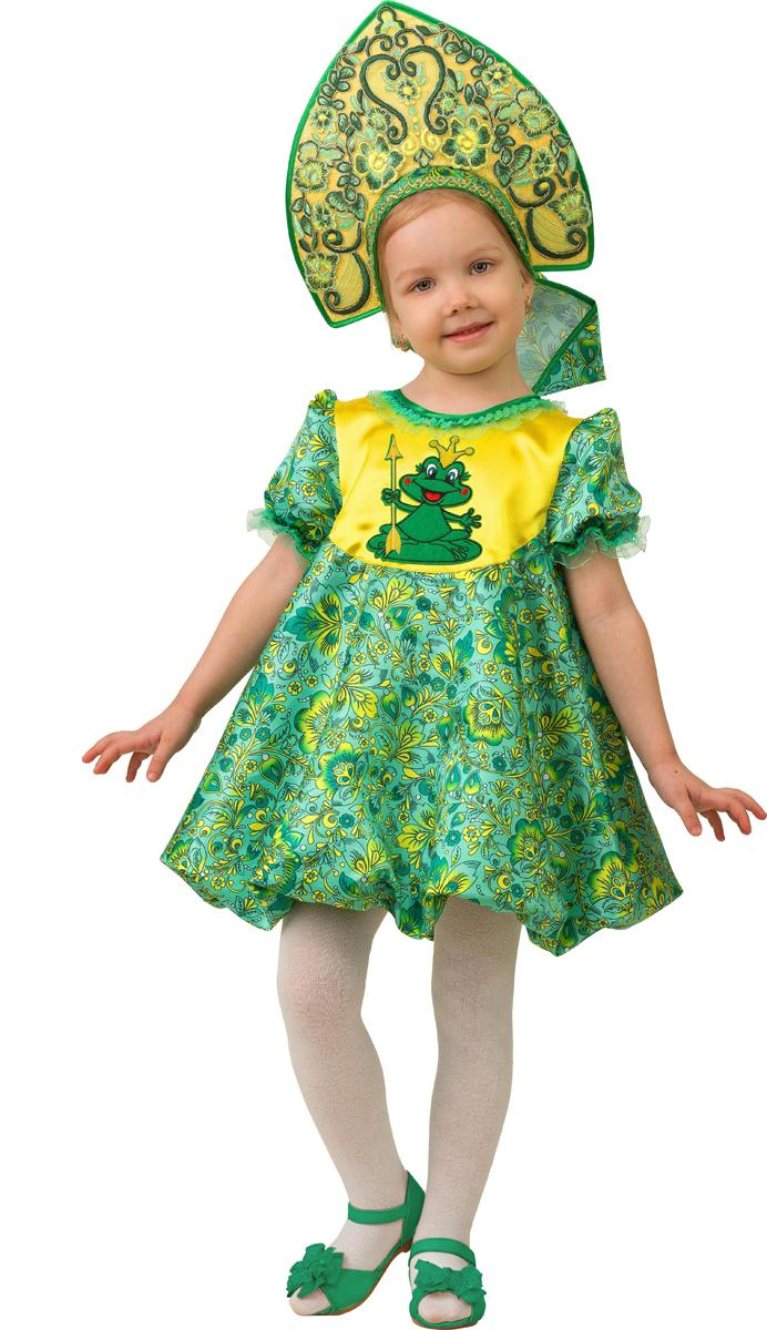Батик Костюм карнавальный для девочки Царевна-Лягушка размер 30 батик карнавальный костюм для девочки снежинка размер 32