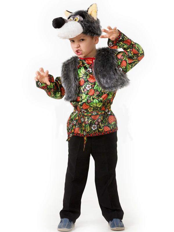 Батик Костюм карнавальный для мальчика Волчонок Еремка размер 32