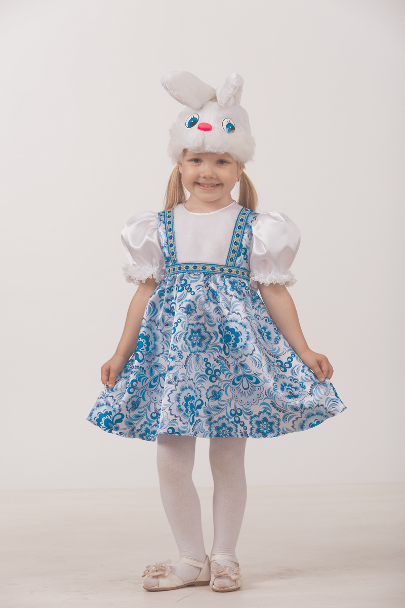 Батик Костюм карнавальный для девочки Зайка Симка размер 32
