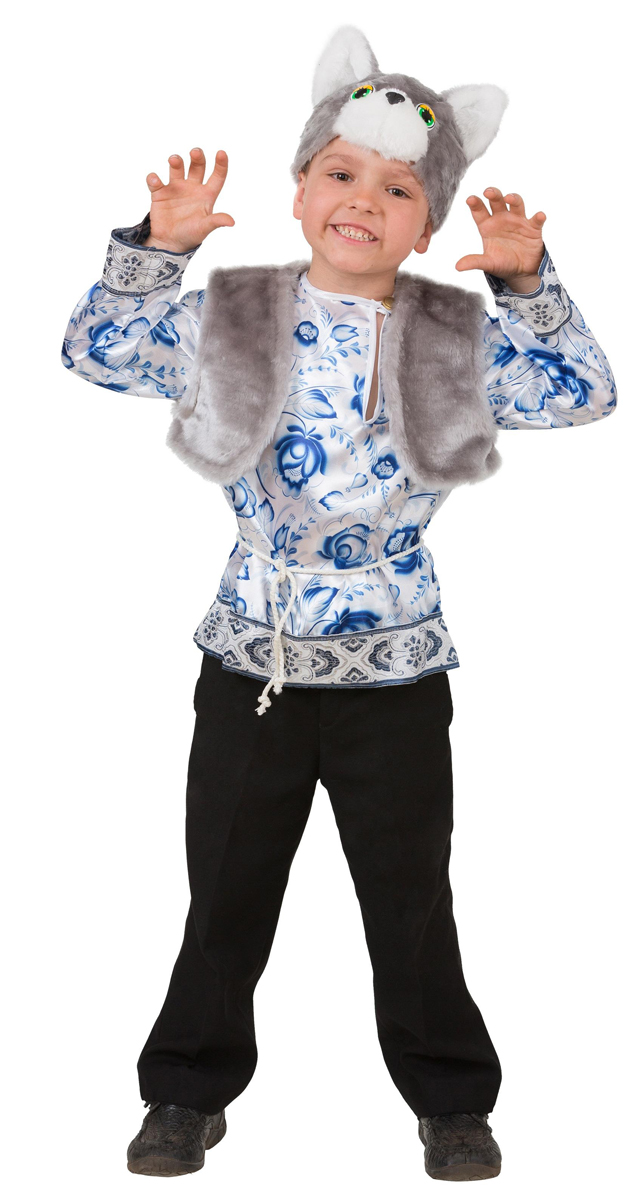 Батик Костюм карнавальный для мальчика Котик Макарка размер 28