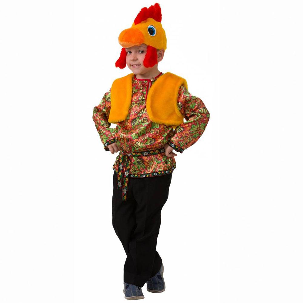 Батик Костюм карнавальный для мальчика Петушок Петруша размер 26 меховая жилетка из овчины