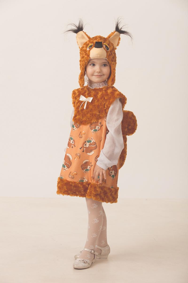 Батик Костюм карнавальный для девочки Белочка Тоська размер 28 батик карнавальный костюм для девочки снежинка размер 28