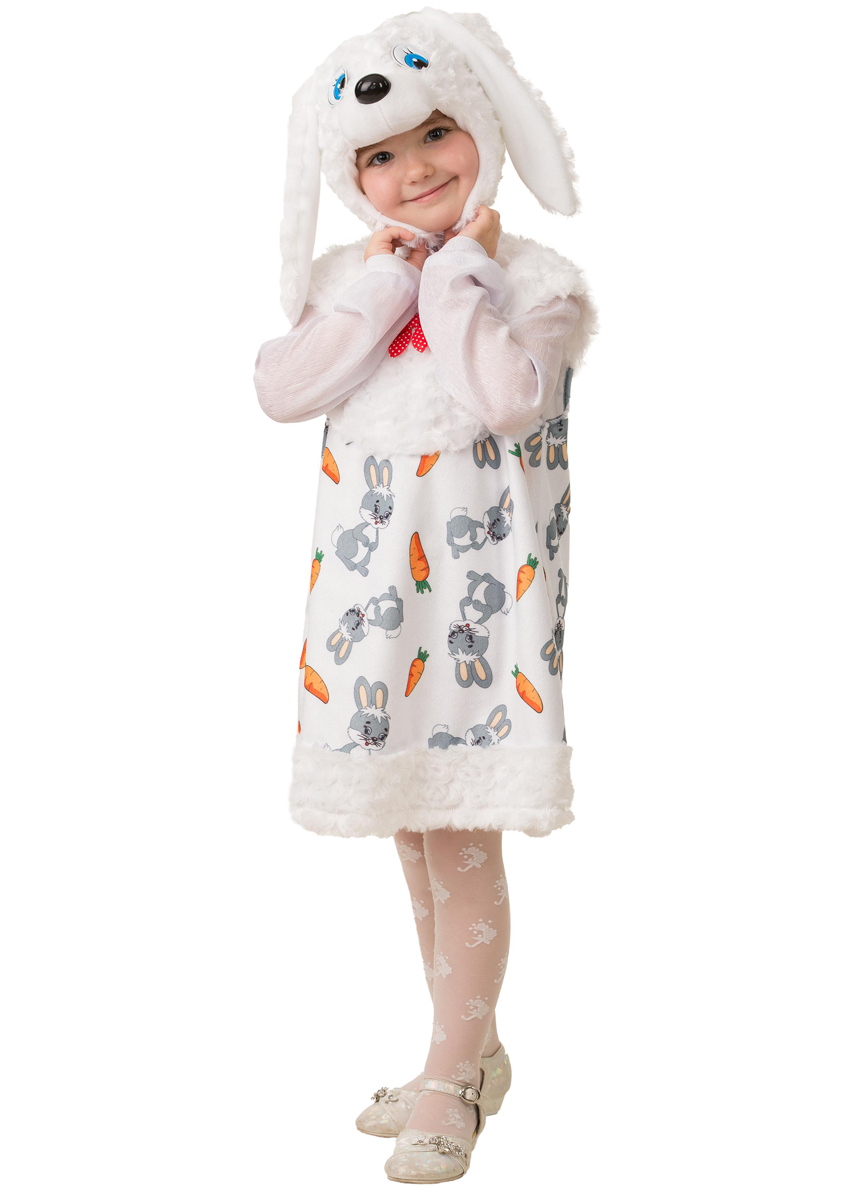 Батик Костюм карнавальный для девочки Зайка Сонька размер 28 батик карнавальный костюм для девочки снежинка размер 30