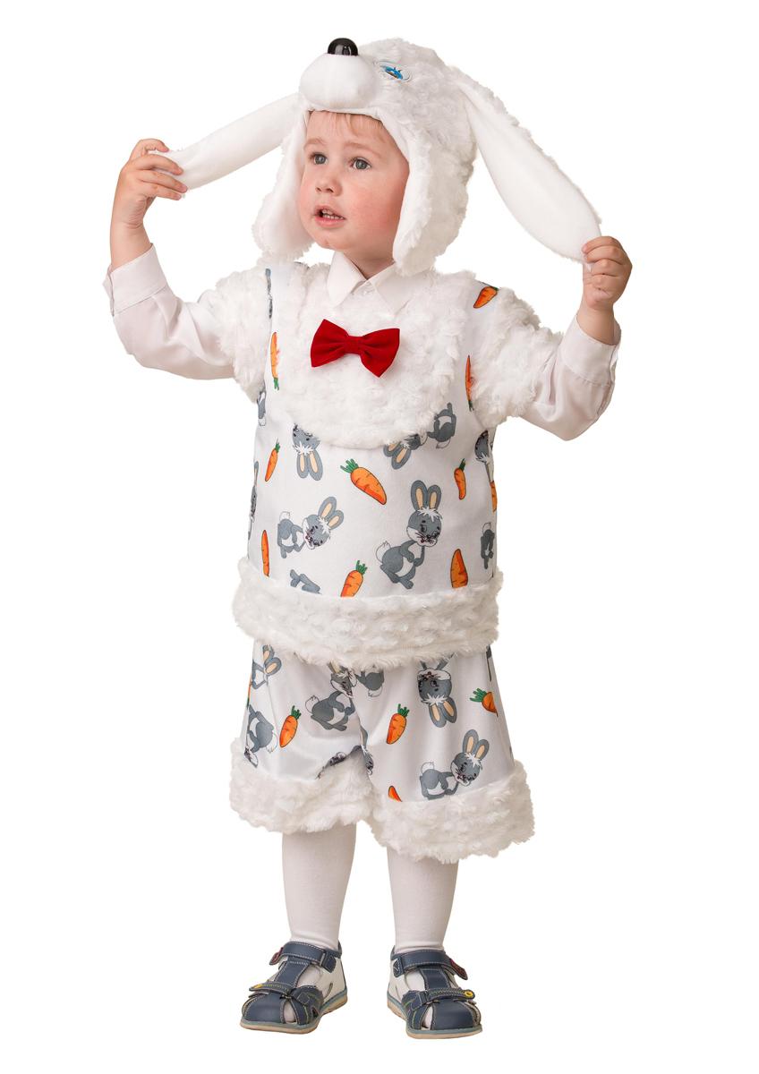 Батик Костюм карнавальный для мальчика Зайчонок Плутишка размер 28