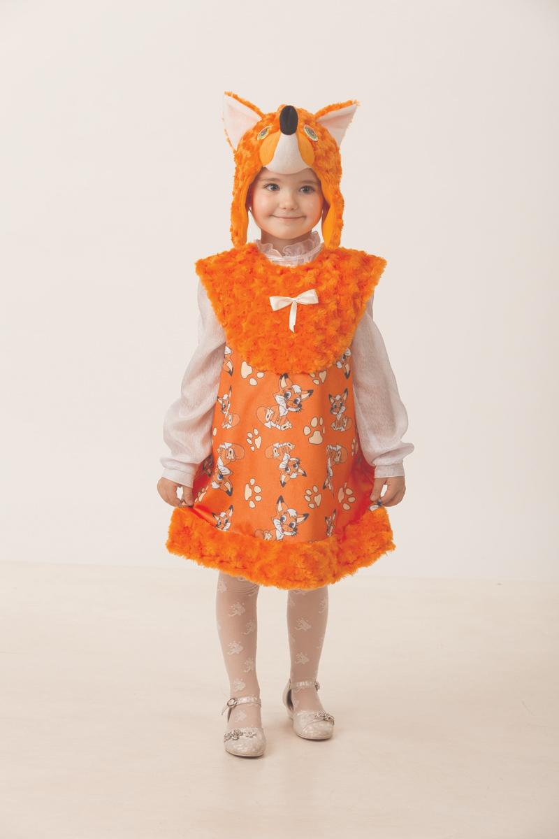 Батик Костюм карнавальный для девочки Лисичка Лиля размер 28 батик карнавальный костюм для девочки снежинка размер 28