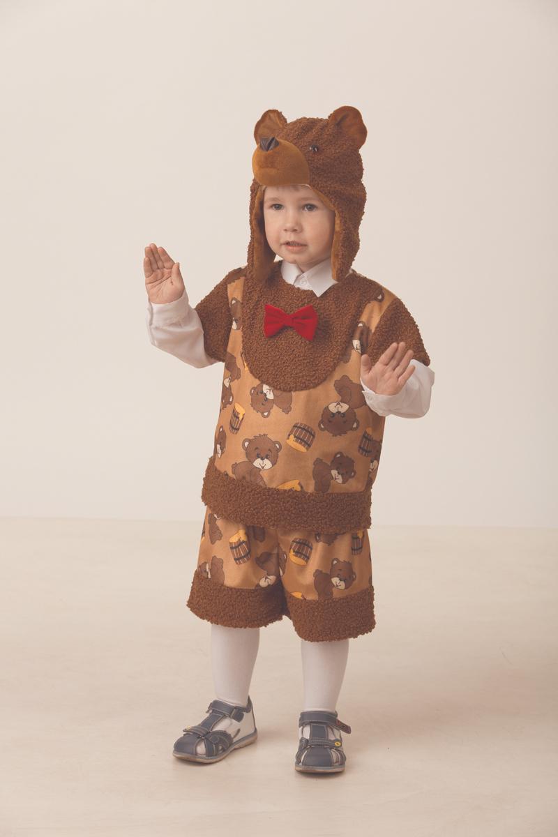 Батик Костюм карнавальный для мальчика Медвежонок Михасик размер 26 батик костюм карнавальный для мальчика римский воин размер 38