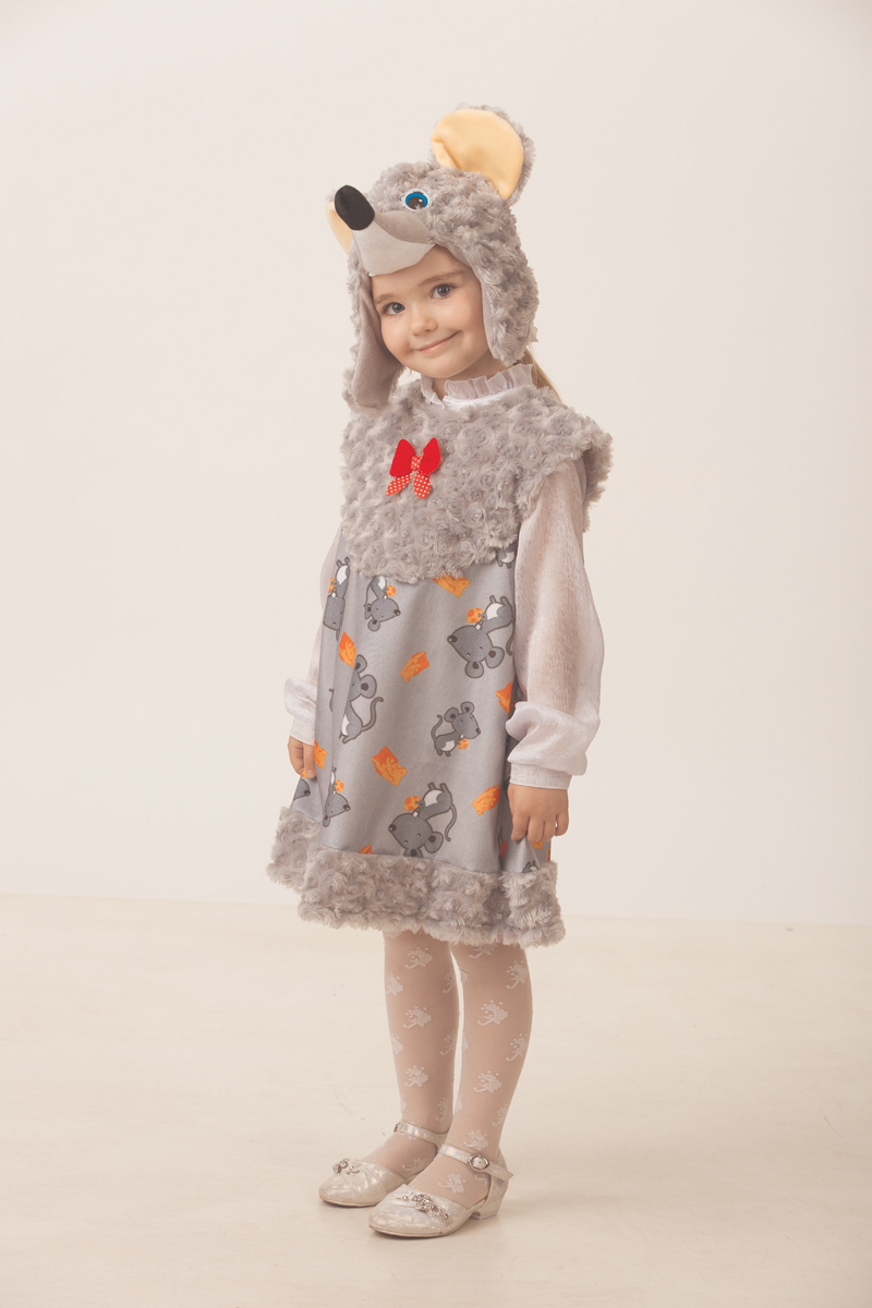 Батик Костюм карнавальный для девочки Мышка Малютка размер 28