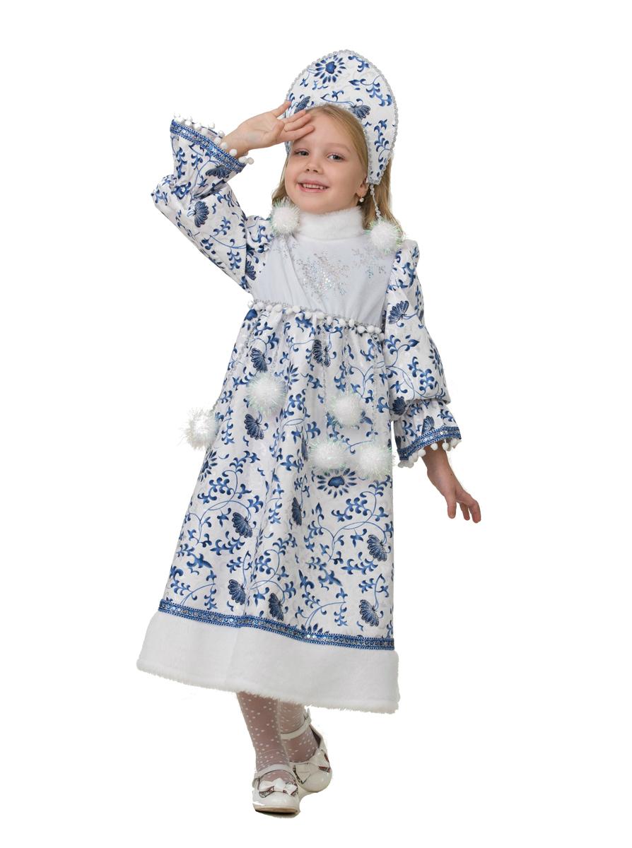Батик Костюм карнавальный для девочки Снегурочка Ледянка размер 30 батик карнавальный костюм для девочки снежинка размер 30