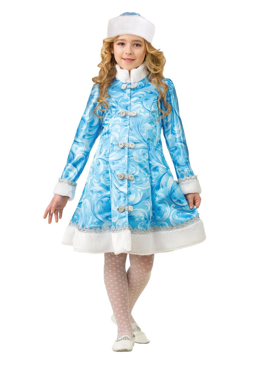 Батик Костюм карнавальный для девочки Снегурочка сказочная размер 34