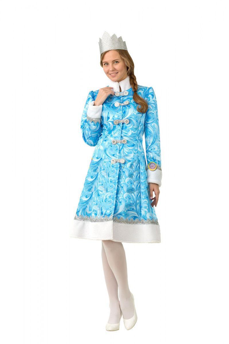 Батик Костюм карнавальный взрослый Снегурочка сказочная размер 48 Батик