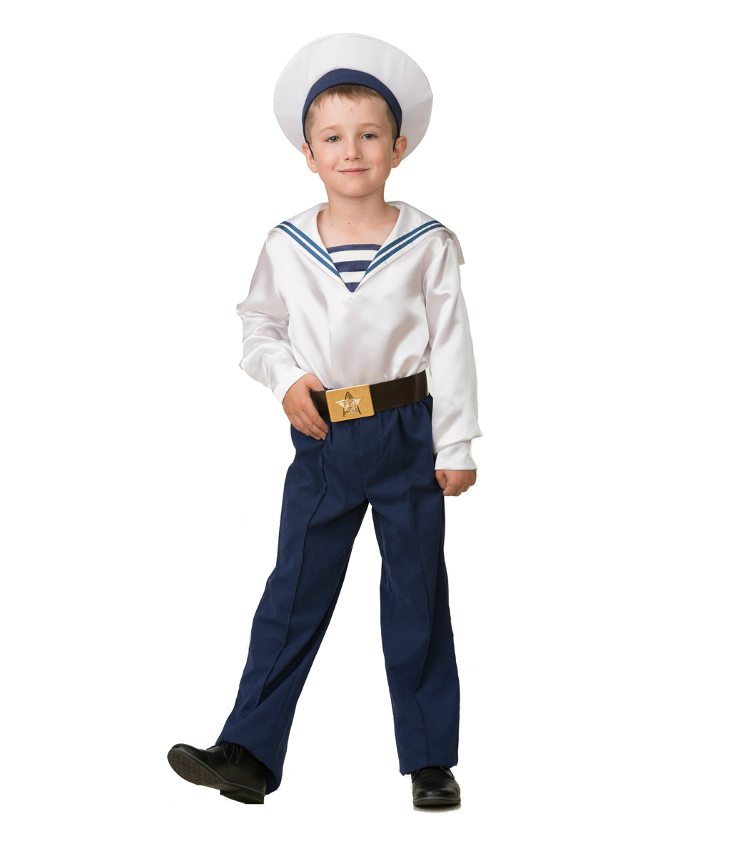 Батик Костюм карнавальный для мальчика Матрос парадный размер 36