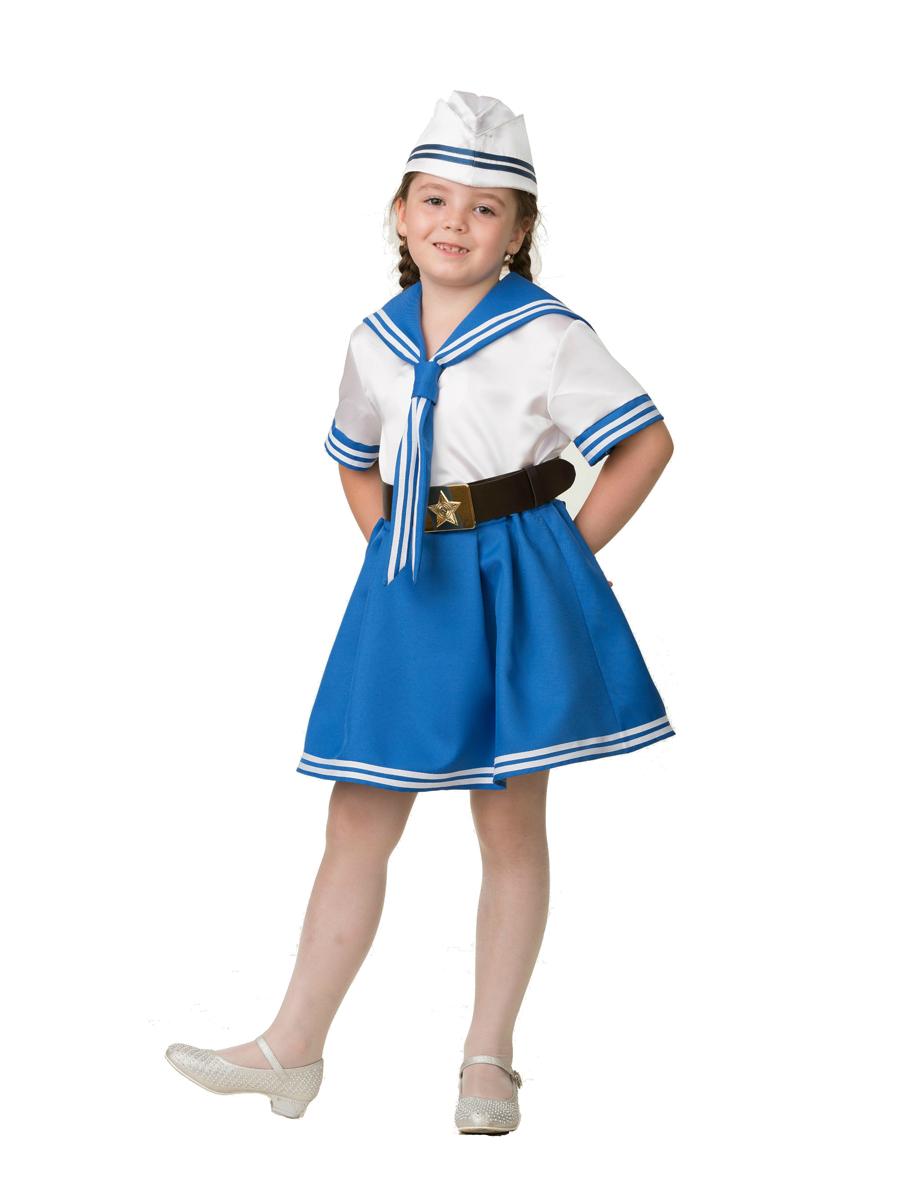 Батик Костюм карнавальный для девочки Морячка размер 34 батик карнавальный костюм для девочки снежинка размер 30