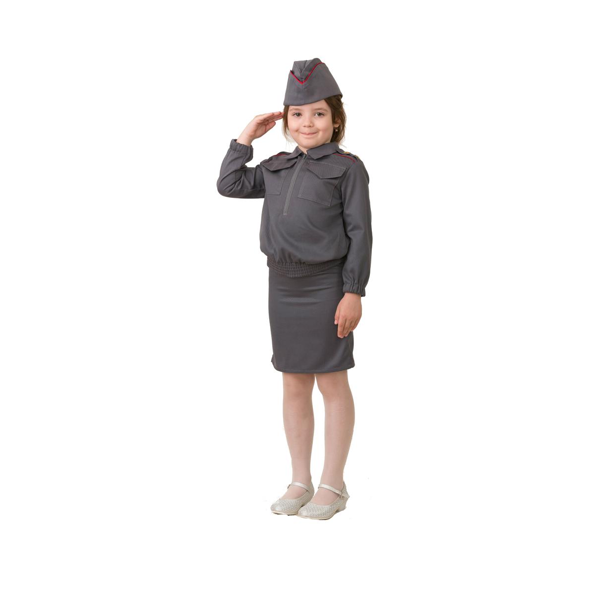 Батик Костюм карнавальный для девочки Полицейская размер 30 батик карнавальный костюм для девочки снежинка размер 30
