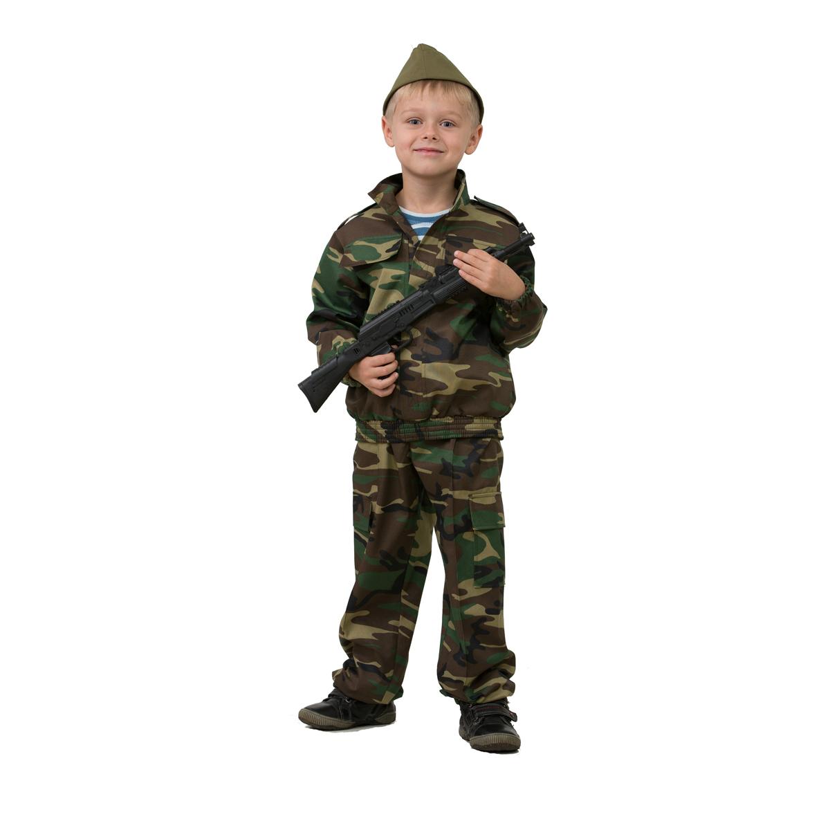 Батик Костюм карнавальный для мальчика Разведчик размер 34 батик костюм карнавальный для мальчика витязь размер 34