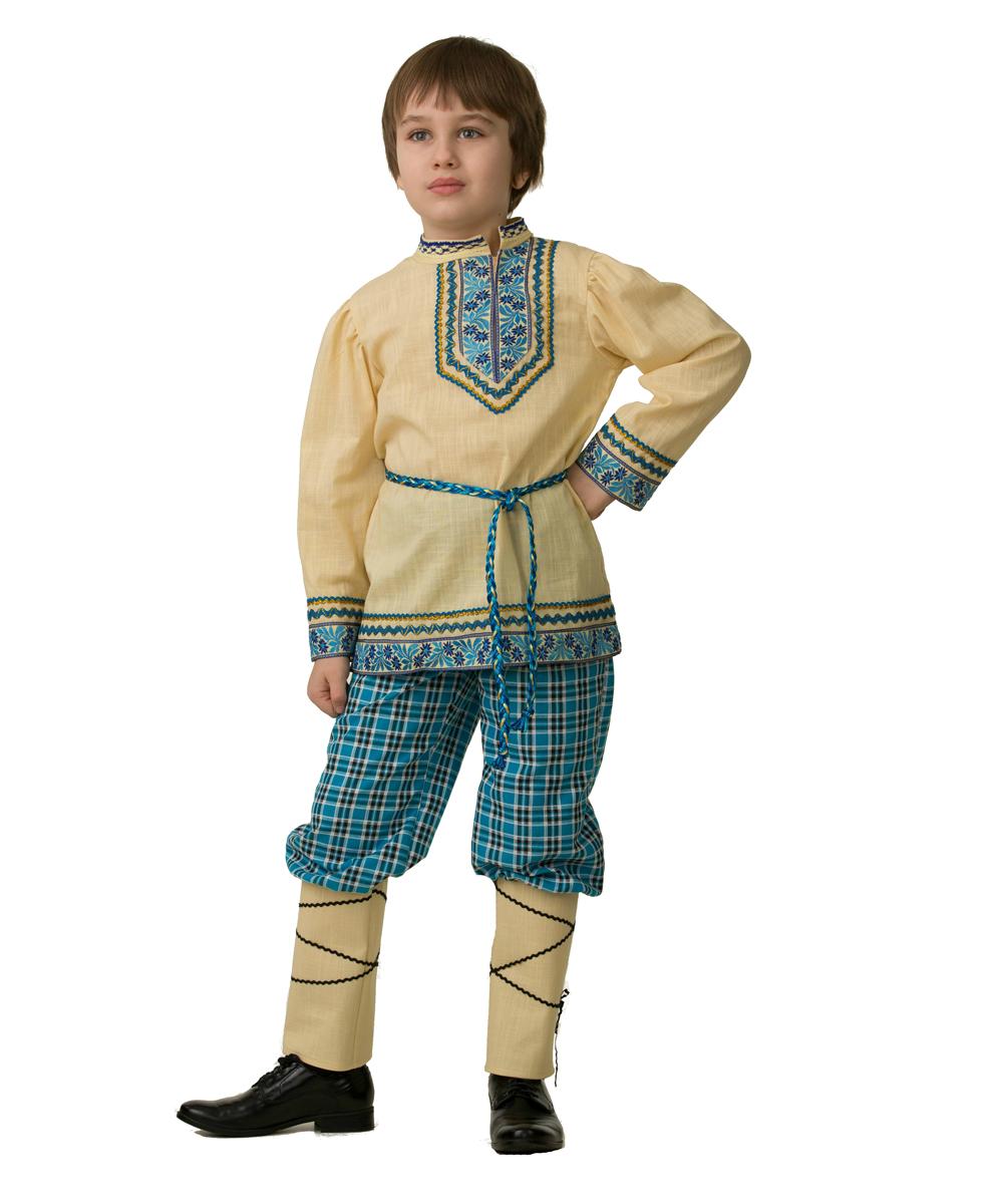 Батик Костюм карнавальный для мальчика Народный костюм Рубашка вышиванка размер 40 костюм снегурочки конфетки 40 44