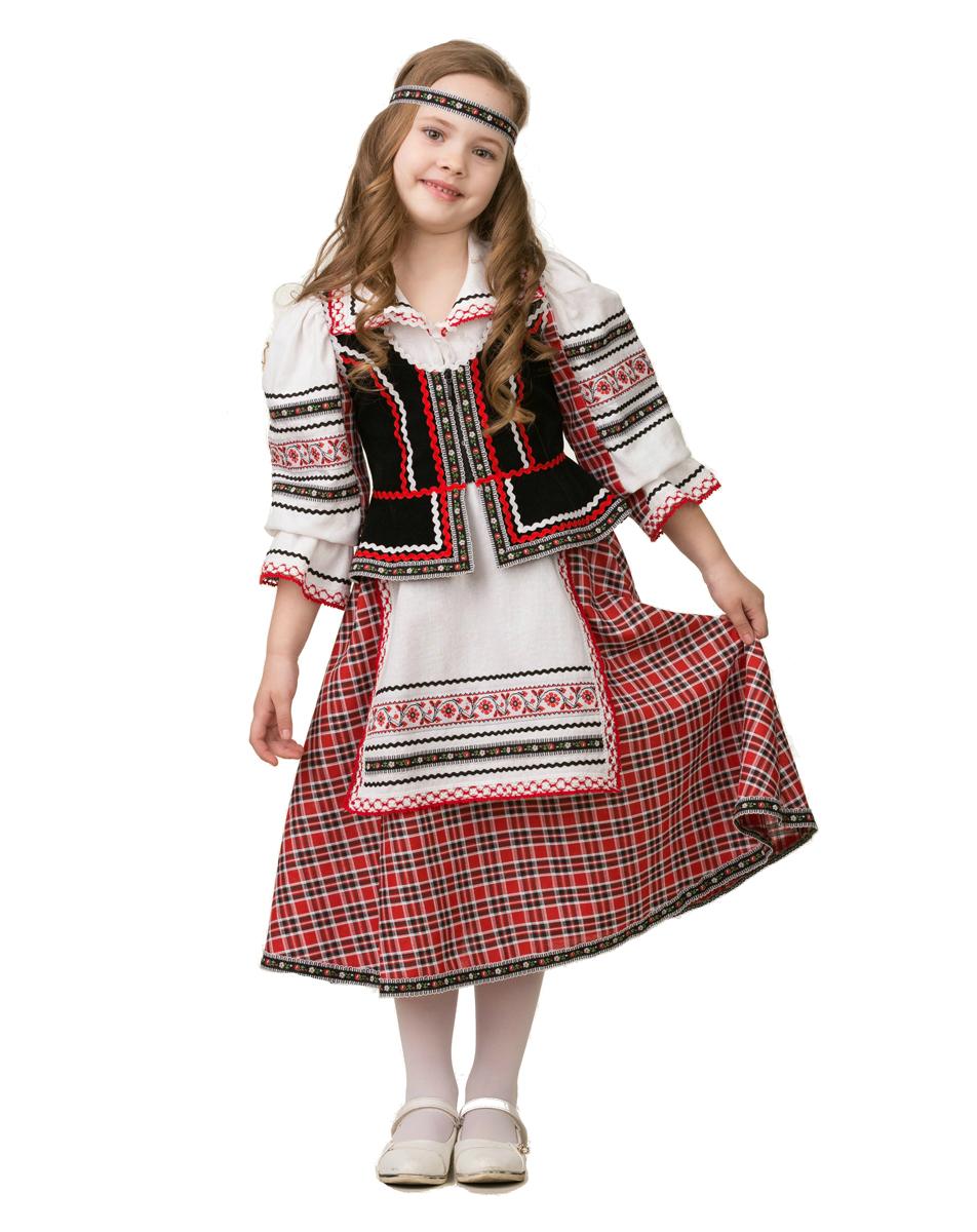 Батик Костюм карнавальный для девочки Национальный костюм размер 30 костюм страшного клоуна детский 30 32