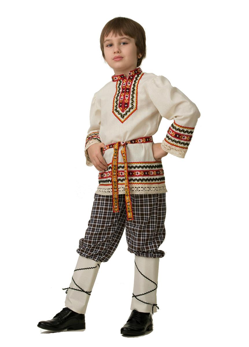 Батик Костюм карнавальный для мальчика Славянский костюм Рубашка вышиванка размер 36